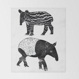 Malayan Tapir & Baby Throw Blanket