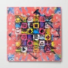Pop Art Color Cubes Metal Print