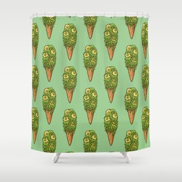 Mutant Ice Cream (slime) Shower Curtain