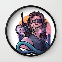 80s Heroes: Snake Plissken (Escape From New York) Wall Clock
