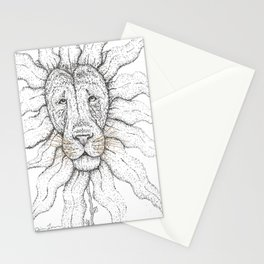 Flower Lion Stationery Cards