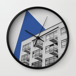 Geometry in Architecture / Blue Triangle Wall Clock