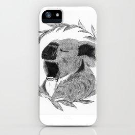 Yawning koala bear iPhone Case