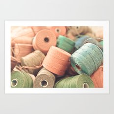 Thread Bowl. Art Print