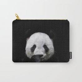 Lovely giant panda portrait on black background Carry-All Pouch