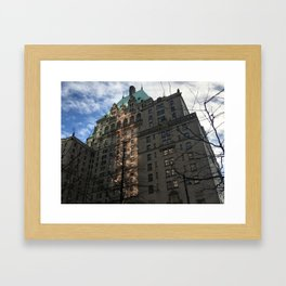 Hotel Vancouver with February Sky Framed Art Print