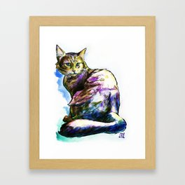 Ms. KittyLittleHead Framed Art Print