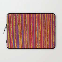 Stripes  - Cheerful yellow orange red and blue Laptop Sleeve