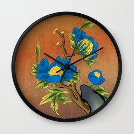 Minhwa: Peony on the Rock F Type  Wall Clock