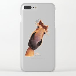 Happy Horse ' MAD MAX ' by Shirley MacArthur Clear iPhone Case