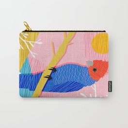 Blazin - memphis throwback tropical bird art parrot cockatoo nature neon 1980s 80s style retro cool Carry-All Pouch