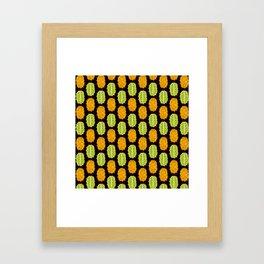 strange fruits (kiwano) Framed Art Print