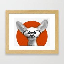 Fennec Fox wearing glasses Framed Art Print