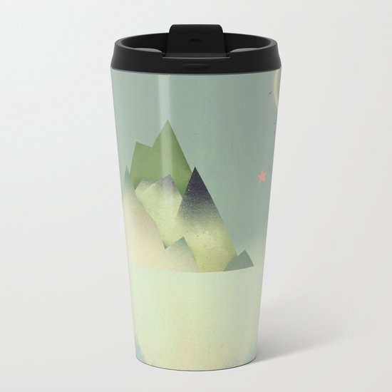 Abstract Cloudscape Metal Travel Mug