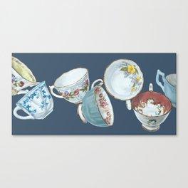 Dancing Queens in Navy Canvas Print