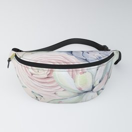 Pretty Pink Succulents Garden Fanny Pack