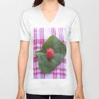 health V-neck T-shirts featuring Good Health by Manuel Estrela 113 Art Miami