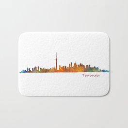 Toronto Canada City Skyline Hq v01 Bath Mat
