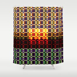 RETRO PIXEL PATTERN Shower Curtain
