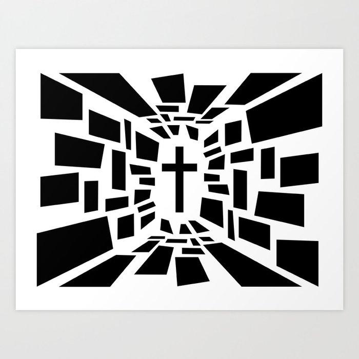 Christian Cross Art Print