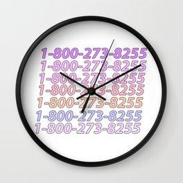Logic Suicide Hotline Wall Clock