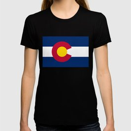 Colorado flag - High Quality image T-shirt
