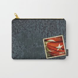 Grunge sticker of Turkey flag Carry-All Pouch
