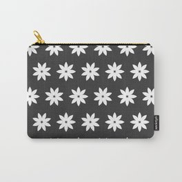 Minimalist Flowers Black & White Carry-All Pouch