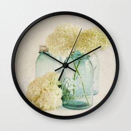 Hydrangea Whisper Wall Clock