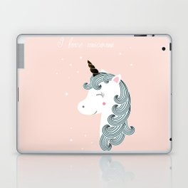 I love unicorns Laptop & iPad Skin