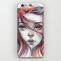 fight iPhone & iPod Skins featuring Fight by Koanne Ko