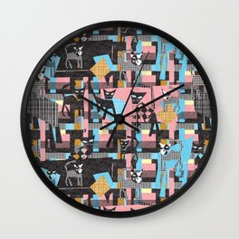 Picasso's cats Wall Clock