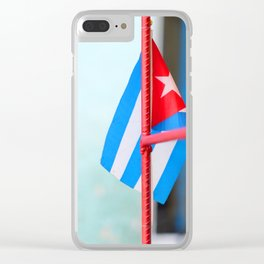 132. Cuban Flag, Cuba Clear iPhone Case