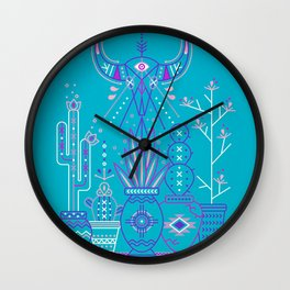 Santa Fe Garden – Blue & Purple Wall Clock