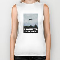 i want to believe Biker Tanks featuring I want to believe by SIMid