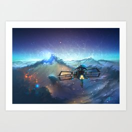 The Sea Of Space Art Print