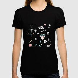 Rockabilly Lucky 13 Teal T-shirt