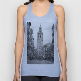 Black White Architecture in Valencia Unisex Tank Top