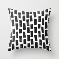 Paint Stroke Pattern Throw Pillow