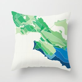 Seattle Colored Throw Pillow