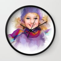 sport Wall Clocks featuring sport by tatiana-teni