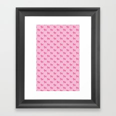 Dogs-Pink Framed Art Print