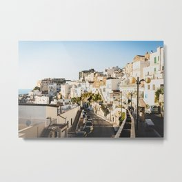 Afternoon in a white city Metal Print