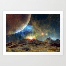 A Martian Sunrise Art Print