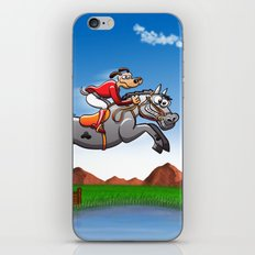 Olympic Equestrian Jumping Dog iPhone & iPod Skin
