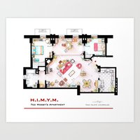 himym Art Prints featuring Ted Mosby apartment from 'HIMYM' by nikneuk