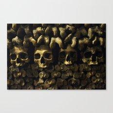 Skulls - Paris Catacombs Canvas Print