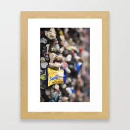 A Cool Gross Bubblegum Alley San Luis Obispo Framed Art Print