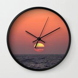 Greek Sunset Wall Clock