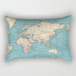 Pacific Projection World Map Rectangular Pillow